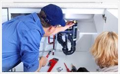 Réparation d'une fuite de tuyau